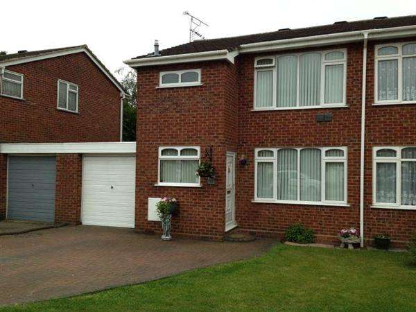 3 Bedrooms Semi Detached House for sale in The Greenway, Marston Green