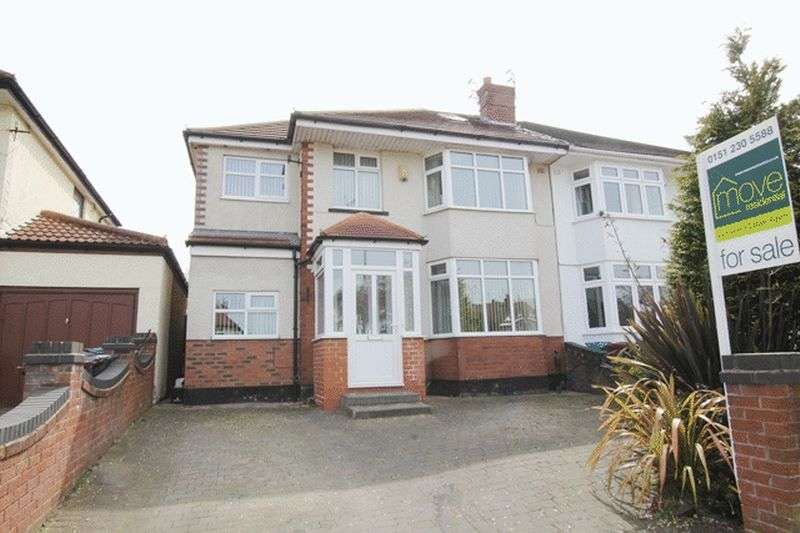 5 Bedrooms Semi Detached House for sale in Thingwall Hall Drive, Broadgreen, Liverpool, L14
