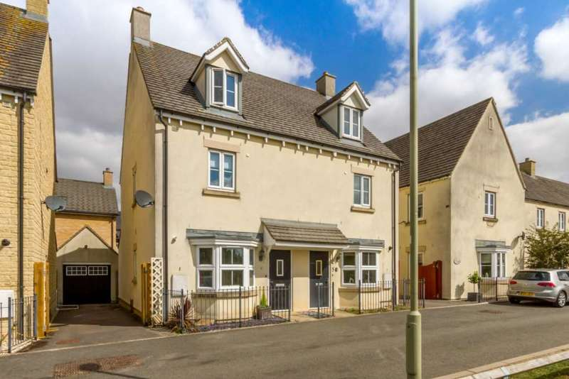 3 Bedrooms Semi Detached House for sale in Stocks Green, Carterton
