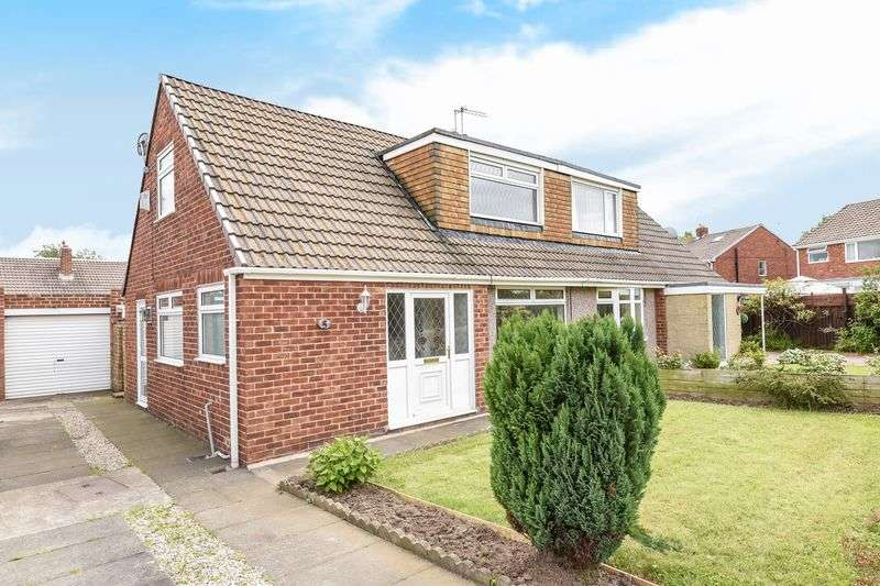2 Bedrooms Semi Detached Bungalow for sale in Keverstone Grove, TS23 3RW