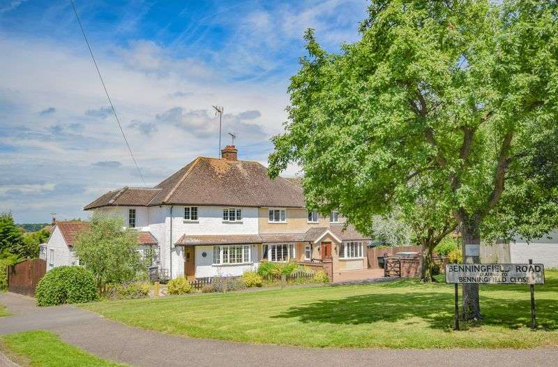 4 Bedrooms Semi Detached House for sale in Benningfield Road, Ware