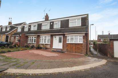 5 Bedrooms Semi Detached House for sale in Glemsford Close, Luton, Bedfordshire, Tophill