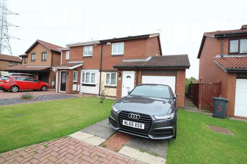 2 Bedrooms Semi Detached House for sale in Badminton Close, The Cotswolds, Boldon Colliery